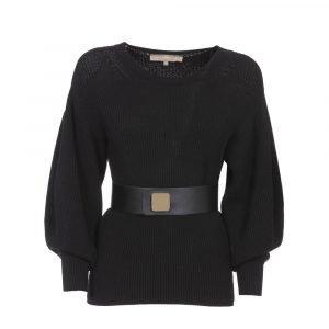 Jersey negro de punto Simona Corsellini