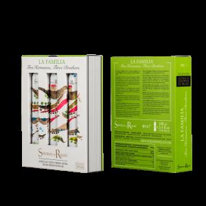 """Aceite de oliva Virgen extra Estuche edición de bolsillo """"La Familia""""(x3 botellas 100 ml)"""