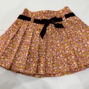 Falda de pana estampada