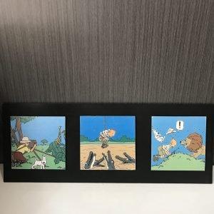 Tríptico de Tintin Le Péril Sauvage