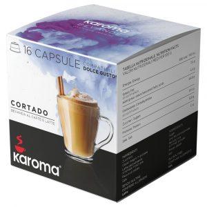 Cápsulas compatibles Dolce Gusto Karoma CORTADO 16 cápsulas