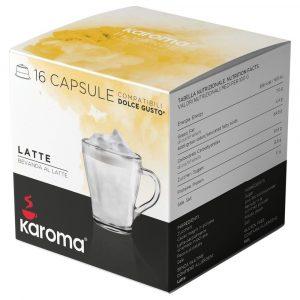 Cápsulas compatibles Dolce Gusto Karoma LECHE 16 cápsulas