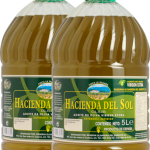 Aceite de Oliva Virgen Extra de Almazara Hacienda del Sol. Pack 2 botellas de 5 litros