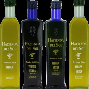 Aceites de Oliva Virgen Extra Hacienda del Sol. Pack degustación
