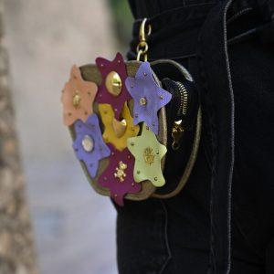 Happy Apple Leather Bag