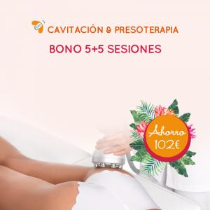 Bono 5+5 Cavitación y Presoterapia