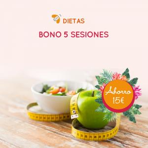 Bono de 5 Sesiones Dietas y Seguimiento