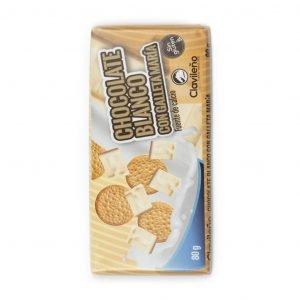Chocolate blanco con galleta María