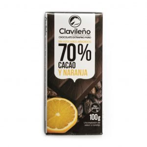 Chocolate negro 70% cacao con naranja sin azúcares añadidos