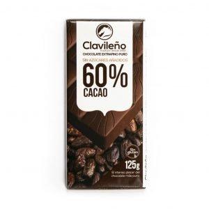 Chocolate extrafino puro 60% sin azúcares añadidos