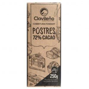 Cobertura Postres de chocolate fondant 72% cacao