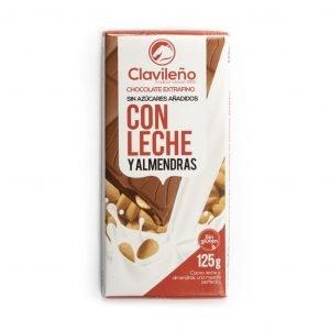 Chocolate con leche y almendras sin azúcares añadidos