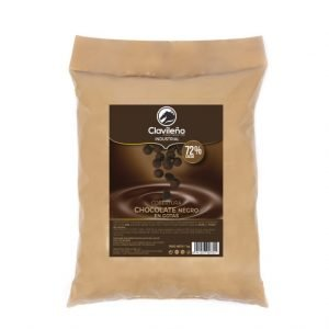 Cobertura 1kg Chocolate Negro Postres Clavileño