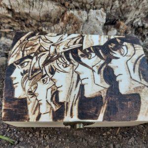 Baúl de Madera Pirograbado