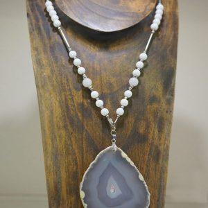 Collar Ágata de joyas y Cuarzo