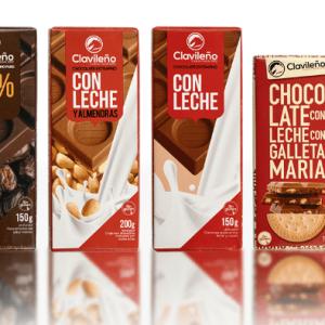 Sweet Pack 7 Tabletas de Chocolate Almendras Cacao Clavileño
