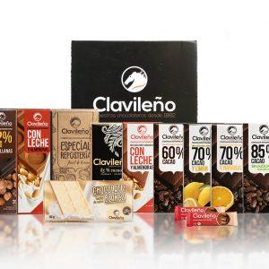 Sweet Pack Tabletas de Chocolate Cacao Galletas Almendras Clavileño