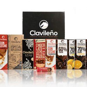 Pack Premium Clavileño Tabletas de Chocolates Sin Aceite de Palma
