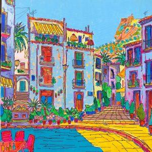 Acrílico Barrio de Santa Cruz Alicante by REMBERTO