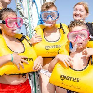 Costa y Vela en Catamaran Excursión para NIÑOS
