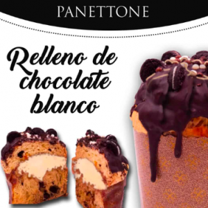 Panettone Juanfran Asencio Relleno de chocolate blanco 780gr
