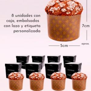 8 Panettones Juanfran Asencio Pequeños en cajas individuales
