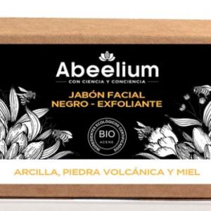 Jabón facial negro Detox Exfoliante con Miel y lava volcánica
