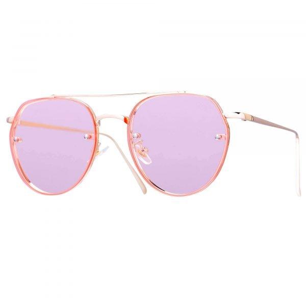 gafas de sol retro rosa