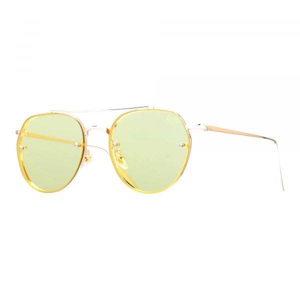 gafas de sol retro amarillas