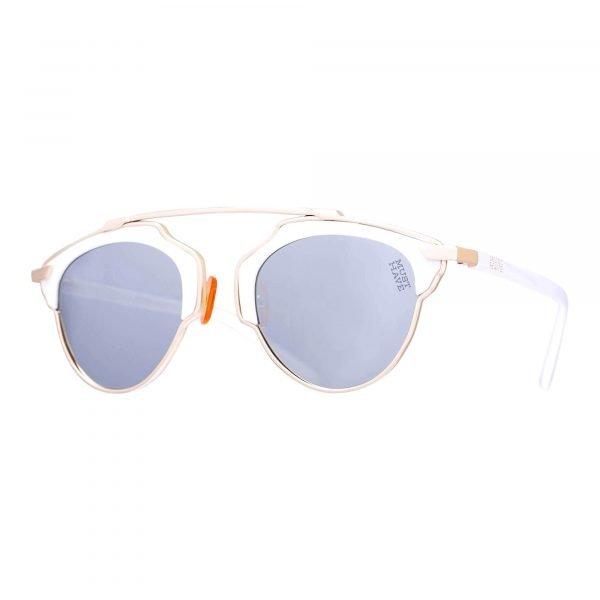gafas de sol hipster blancas