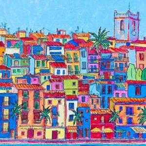 Acrílico Casas frente al Mar Alicante by REMBERTO