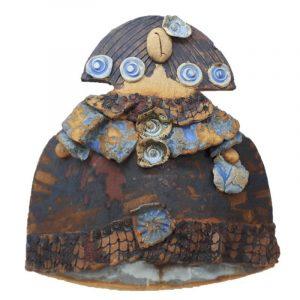 Menina en forma de teja hecha a mano Única Edición