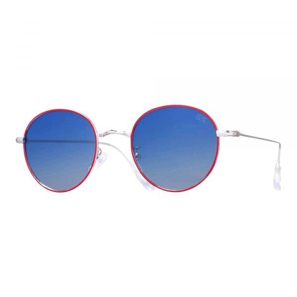 gafas de sol polarizadas azul con montura roja