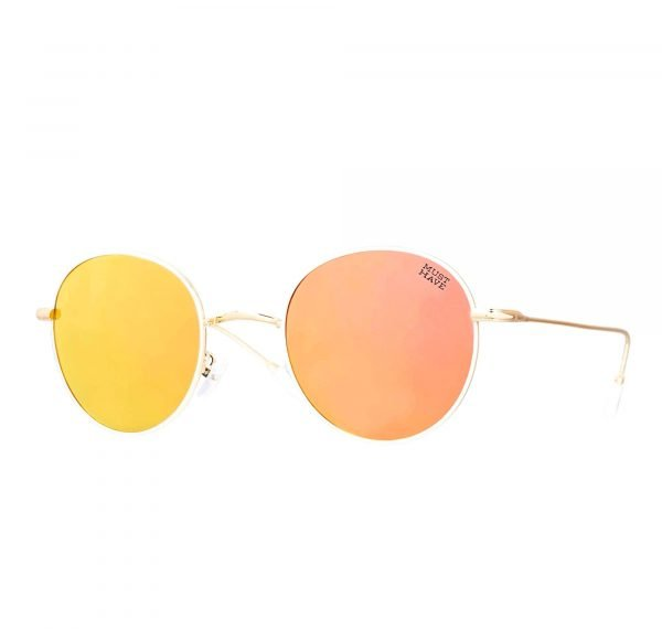 gafas de sol polarizadas en oro rosa