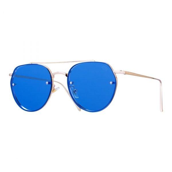 gafas de sol con cristal semitransparente azul