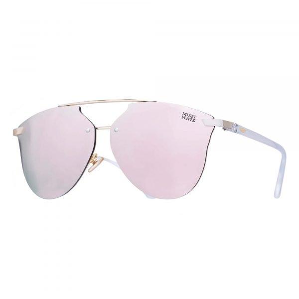 gafas de sol de oro rosa