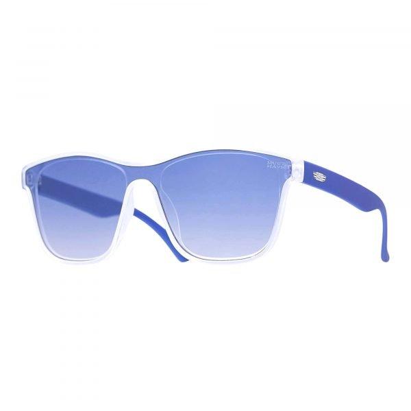 gafas de sol azules con patilla gruesa