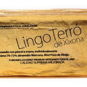 Turrón de Jijona Gourmet 70% LingoTerró de Oro 500g