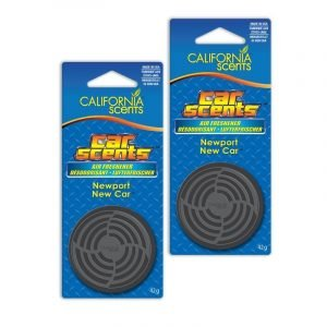 California scents, ambientador coche fragancia new car. pack de 2 unidades