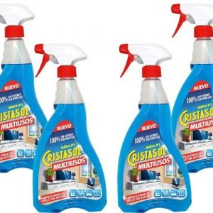 Cristasol limpiador multiusos en spray, 750 ml. pack de 4 unidades