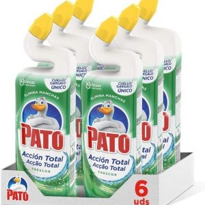 Pato wc de sc johnson, limpiador inodoro acción total fragancia frescor, 750 ml. pack de 6 unidades