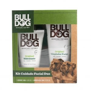 Bulldog skin care for men, set cuidado facial duo, limpiador de 150 ml + crema hidratante de 100 ml