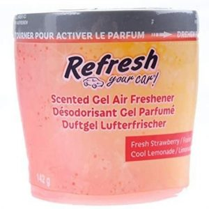 Refresh your car, ambientador coche en lata con gel fragancia fresa limón