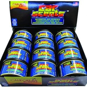 California scents, pack de 12 latas de ambientador coche fragancia new car