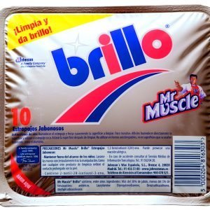 Mr muscle brillo de sc johnson, estropajo jabonoso  contra grasa incrusada