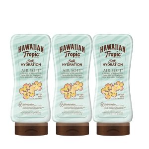 Hawaiian tropic - silk after sun hydration - loción after sun hidratante ultra ligera, coco y papaya