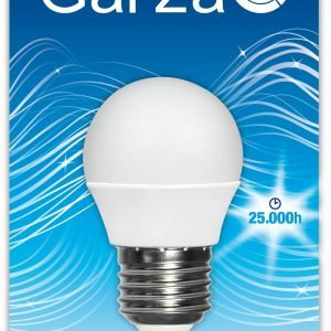 Garza lighting - bombilla led esférica, 6w, e27, 540 lúmenes, luz fría, stock