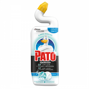 Pato wc power lejía de sc johnson, fragancia marine, limpiador quitamanchas para inodoro, 750 ml