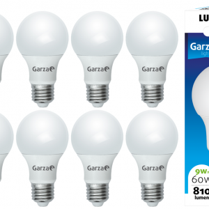 Garza lighting, bombilla led standard a60, 9w, e27, 240º, 810 lúmenes, 4000 k, luz neutra