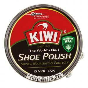 Kiwi de sc johnson, crema en lata para calzado shoe polish marrón oscuro, 50 ml